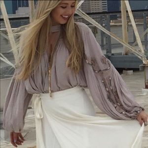 Free people flowy embroidered blouse